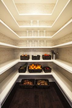 This is the kind of pantry space I would like to have. Then I will not need so many kitchen cabinets.