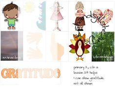 Lesson 24 Primary 2 Choose the Right, gratitude lesson helps, primary visuals, fhe