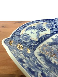 Asian platter blue and white porcelain serving by Acrossthegap
