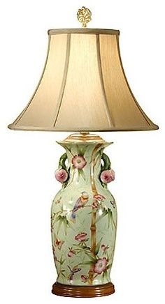 Birds In Bamboo Lamp - traditional - chandeliers - The Southern Home Romantic Master Bedroom, Master Bedrooms, Bedroom Green, Green Bedrooms, Traditional Window Treatments, Chinese Lamps, Bamboo Lamp, Lampshades, Great Rooms