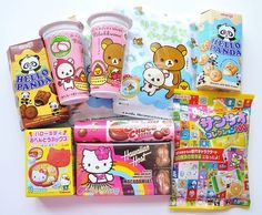 Image discovered by Natasha Chenkov. Find images and videos about food, sweet and kawaii on We Heart It - the app to get lost in what you love. Japanese Snacks, Japanese Candy, Japanese Sweets, Japanese Food, Korean Sweets, Cute Snacks, Cute Desserts, Cute Food, Yummy Snacks