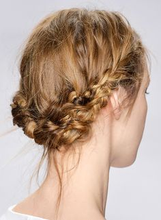 Try a braided crown for a easy, no-fuss look, perfect for festival season.