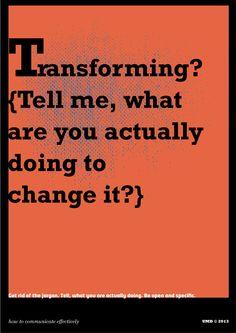 Transforming?