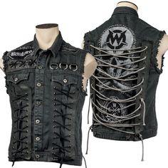 Custom Stitched Skull Bastard Vest WSCV-415 MTO Wornstar Clothing