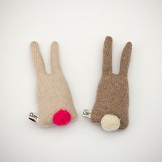 SARA CARR, LAMBSWOOL BUNNIES: filled with lavender. hand-knit