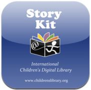 FREE App Letting kids create their own story book with pictures, photos, text, and recording their own voice.