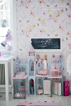 toddler girl sweet playful dollhouse