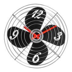 Retro Fan 38cm Wall Clock