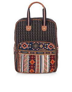 Keoma Woven Top Handle Backpack | Multi | Accessorize