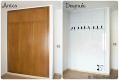 ¿Qué es recycling, upcycling y customizing? Cupboard Doors Makeover, Door Makeover, Diy Furniture Projects, Furniture Makeover, Tall Cabinet Storage, Locker Storage, Home Staging, Home Renovation, Interior Design Living Room