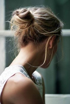 Put your wet hair in a bun overnight, and in the morning it will be all ready to go no-style, unless you have very curly hair.