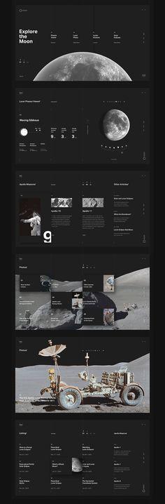 Web Design & UI/UX: Explore the Moon - Fiverr - an online platform for freelancer. Fiverr is also a great place for you to outsource tasks such as writing making a vide creating a logo. - Web Design & UI/UX: Explore the Moon Web Design Trends, Ui Ux Design, Layout Design, Web Design Tips, Web Layout, Interface Design, Logo Design, Creative Web Design, Design Agency