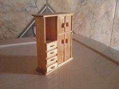 ARTE PEQUENA: Móveis feitos com palito de picolé