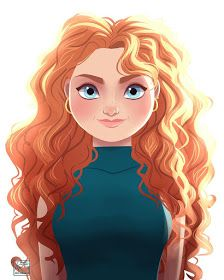 Modern Merida by Archibald Art. Disney Pixar, Disney Fan Art, Disney Animation, Disney Princess Art, Disney And Dreamworks, Disney Style, Disney Magic, Disney Movies, Walt Disney