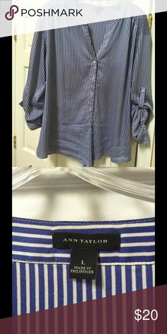 Ann Taylor blouse This great blouse has a tie to add an extra style - very comfortable and lays great. Ann Taylor Tops Blouses