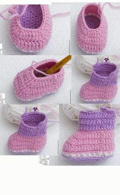 Best 11 Cuddly Crochet Baby Booties (Free Pattern and Tutorial – SkillOfKing. Knitted Baby Boots, Booties Crochet, Crochet Baby Shoes, Crochet Baby Booties, Baby Booties Free Pattern, Baby Shoes Pattern, Baby Patterns, Baby Slippers, Baby Socks