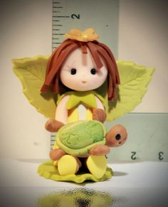 Baby Fairy with turtle by fairiesbynuria on Etsy, $12.95