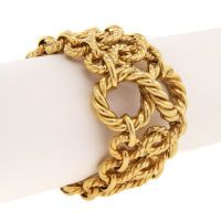 TIFFANY & Co. Large Twisted Rope Seventies Bracelet