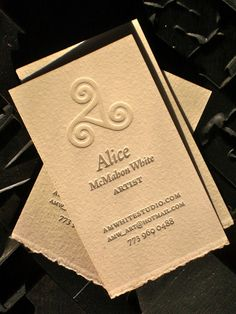 64 best letterpress business cards images on pinterest embossed alice mcmahon letterpress business cards on rives bfk arches stock by slowprint slowprint reheart Images