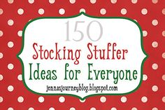 Great stocking stuffer ideas!  For when Santa needs some inspiration.
