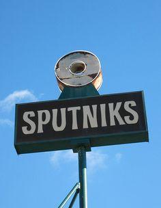 Sputniks Donuts Sign, San Jose