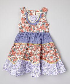 Look what I found on #zulily! Pink & Purple Floral Dress - Toddler & Girls #zulilyfinds