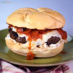 Meatball Burger by Clinton Kelly! #TheChew