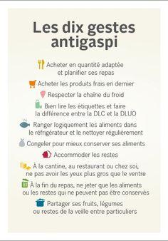Dix gestes anti-gaspillage alimentaire
