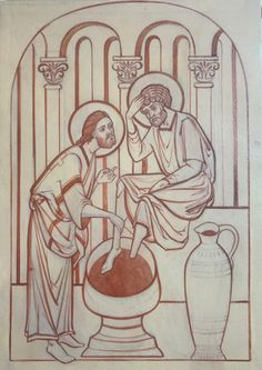 The work and teaching of UK iconographer Amanda de Pulford. Religious Icons, Orthodox Icons, Hair And Beard Styles, Christian Art, Outline, Tumblr, Drawings, Painting, Image