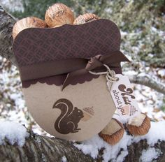 Nuts for you - tutorial on how to make this cute acorn box - bjl