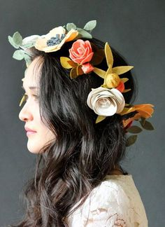 Felt is a great material to make a DIY flower hair clip.