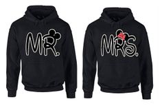 COUPLE Matching hoodie  Mr  Mrs  couple LOVE cartoon by randmetsy, $44.99 this is for jameka!
