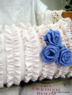 DIY frilly pillow.  Very cute and girly :)