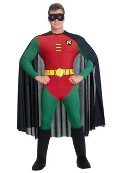 Adult Robin costume is the perfect complement to any of our Batman costumes. This adult superhero costume can be worn for Halloween or theme parties.