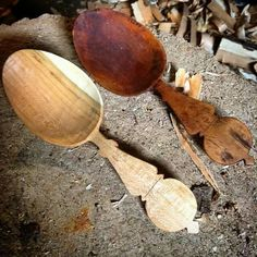 Great copy of an antique spoon by Fiddlehead Woodworking.