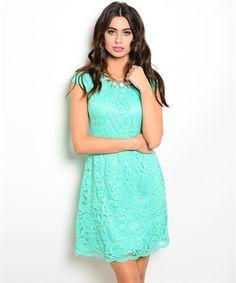 Love You More- Mint Lace Dress – URBAN MAX LLC