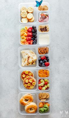 Healthy Vegan Back to School Lunchbox Ideas - NeuroticMommy  <br> *Recipe comes with video tutorial (see above)* These incredibly easy vegan lunches are perfect for both kids and adults alike! Making these will save you time, nourish you and your children all while being fun and delicious! Easy Vegan Lunch, Vegan Lunches, Healthy Vegan Snacks, Lunch Snacks, Healthy Meal Prep, Healthy Snacks For Kids, Clean Eating Snacks, Picnic Foods For Kids, Healthy Lunchbox Ideas