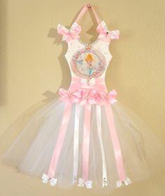 Long Leght Disney Baby Cinderella Tutu Hair Bow Holder