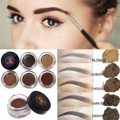 5 Colors Pomade Brown Waterproof Eyebrow Liner Eyes Cosmetic Beauty Long lasting #Unbranded