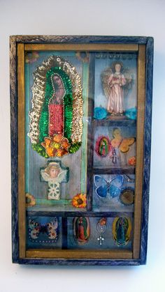 Extra large recycled/ upcycled vintage shadow box by TheVirginRose, $68.00