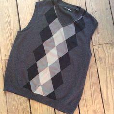 Argyle Vest, Medium,John Henry,Cotton,Preppy, Hipster,Gray,Black,Sweater Vest #JohnHenry #Vest