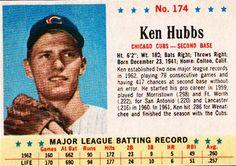 Post Cereal (1963 Ken Hubbs)