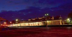 Warragul Railway Station at night Victoria Australia