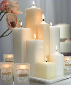 Candles are a wedding must-have, creating tablescapes and centerpieces with that tell-tale romantic glow. Our round pillar candles are available in several sizes to enhance your wedding ceremony, wedding reception, or engagement party with a relaxing atmosphere with picturesque appeal.