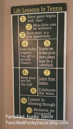 Cool life lessons in Tennis! More tennis ideas at #lorisgolfshoppe