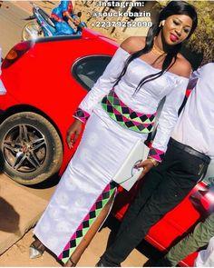 African Wedding Attire, African Attire, African Wear, African Style, African Women, African Print Dresses, African Fashion Dresses, African Dress, Classy White Dress