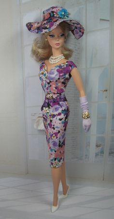 Morning Glory Liberty Print sheath for Silkstone Barbie and Victoire Roux on Etsy now