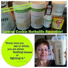 Healthy Smoothie - Herbalife Lemon Cookie