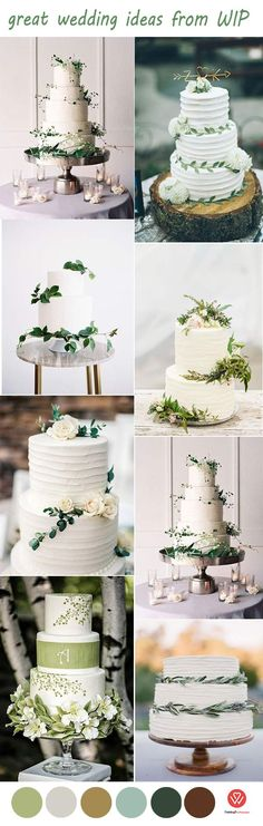 50 Steal-Worthy Wedding Cake Ideas For Your Special Day - Wedding Invites Paper  rustic chic green wedding cakes/ shabby chic wedding cake toppers/ cheap wedding cakes/ affordable wedding cakes