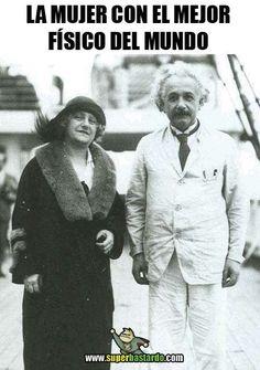 Albert Einstein e sua esposa Elsa. Funny Images, Funny Pictures, Funny Pics, Funny Stuff, Spanish Jokes, Funny Jokes, Hilarious, Mexican Humor, Humor Mexicano